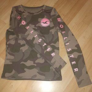 Hollister Camouflage Long Sleeve T-shirt